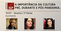 Webinar do IGP recebe Gilberto Gil, Paula Lavigne e Letícia Sabatella